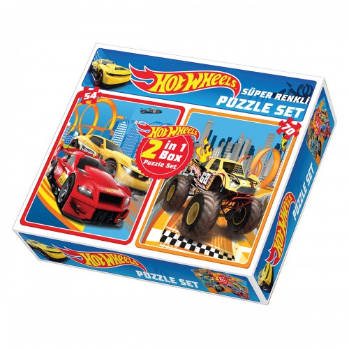 HOT WHEELS 2 İN 1 BOX PUZZLE